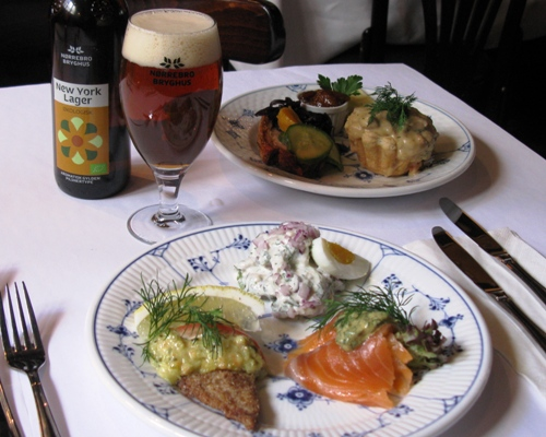 """The classic Restaurant Kronborg is situated in the middle of the medieval centre of Copenhagen with its cosy streets and alleys. The restaurant serves tasty, classic open-faced sandwiches in a lively atmosphere,"" writes popular Copenhagen Guide, AOK.dk, recommending our Easter lunch."