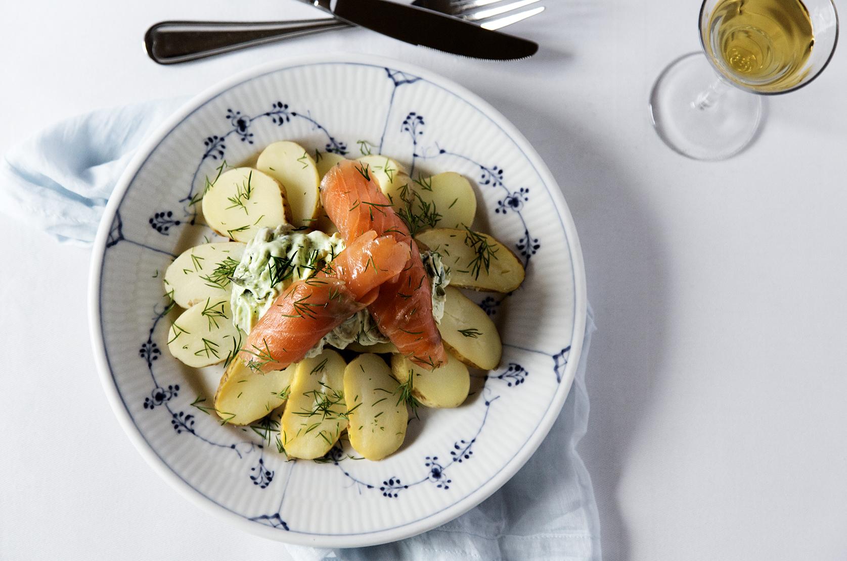 open-faced sandwiches best lunch restaurant kronborg copenhagen smoked salmon ramson recipe