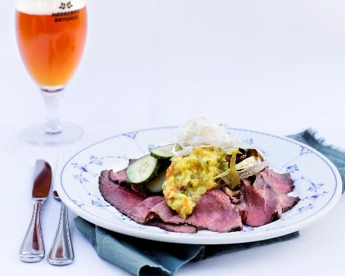 roastbeef smørrebrød god frokost restaurant kronborg københavn