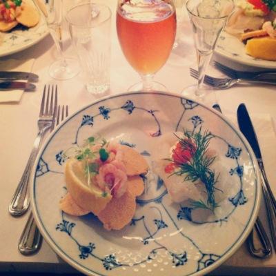 Rimmet torsk nytårskur frokost smørrebrød restaurant kronborg københavn