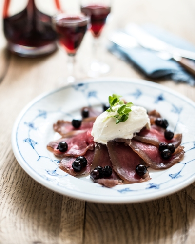 blackcurrants veal fillet best lunch restaurant kronborg copenhagen cooking
