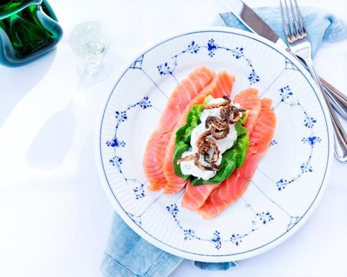 rimmet laks smørrebrød frokost restaurant kronborg københavn