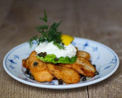smørrebrød cod roe lunch restaurant kronborg