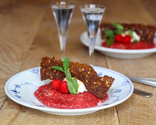 smørrebrød frokost restaurant kronborg københavn opskrift tatar