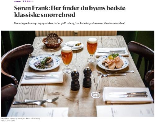 smørrebrød open-faced sandwiches lunch restaurant kronborg copenhagen søren frank berlingske review