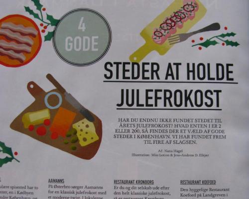 god klassisk julefrokost restaurant kronborg københavn