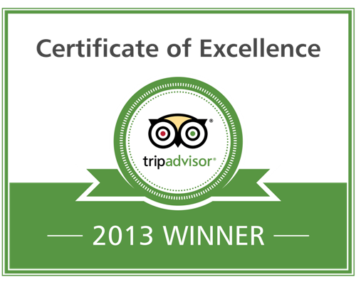 """This prestigious award, which places you in the top-performing 10 % of all businesses worldwide on Tripadvisor, is given to businesses which consistently earn high ratings from Tripadvisor travellers,"" say the friendly guys at review site, Tripadvisor.com."