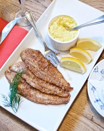 Rigeligt smør martin villumsen julefrokost restaurant kronborg i københavn rødspættefileter